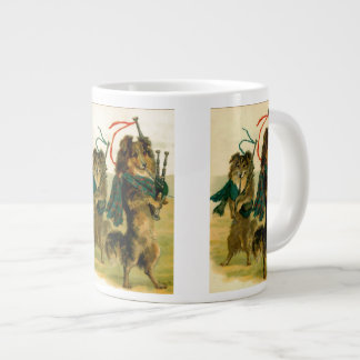 Chiens écossais de joueur de pipeau mug jumbo