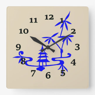 Chiese Landscape Square Wall Clock