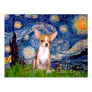 Chihuahua 1 - Starry Night Postcard