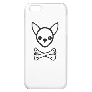 Chihuahua and bones (editable) iPhone 5C cover