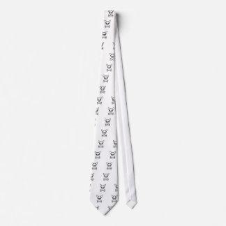 Chihuahua and bones (editable) tie