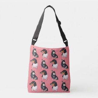 Chihuahua and Dachshund Cross Body/Peanut, Boogie Crossbody Bag