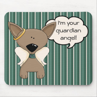 Chihuahua Angel Dogs Keepsake Memory Name Mousepad
