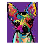 Chihuahua Art Postcard