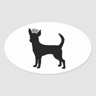 Chihuahua Basic Black Crown Silhouette Stickers