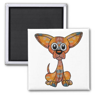 Chihuahua Batik Magnet