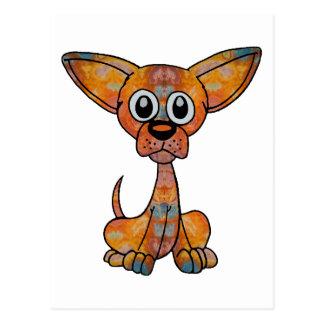 Chihuahua Batik Postcard