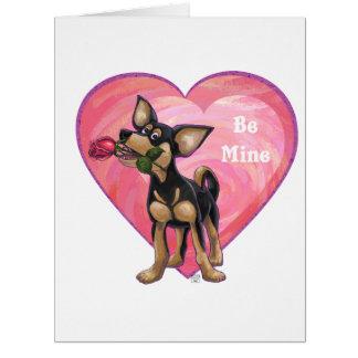 Chihuahua Be Mine Valentine's Day Big Greeting Card