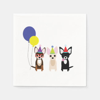 Chihuahua Birthday Napkins Disposable Napkins