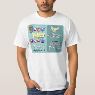 Chihuahua Bowling Tiki Night T-Shirt