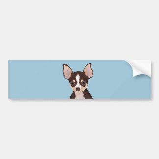 Chihuahua cartoon bumper sticker