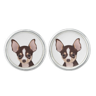 Chihuahua cartoon cufflinks
