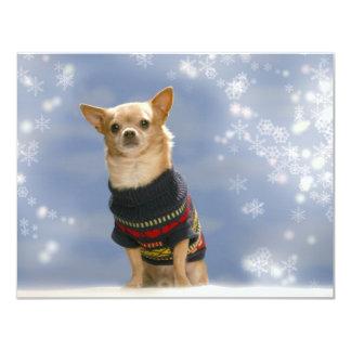 Chihuahua Christmas Invitation