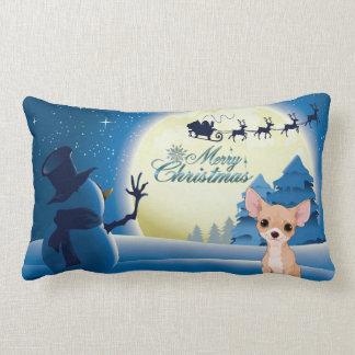 Chihuahua Christmas Lumbar Pillow