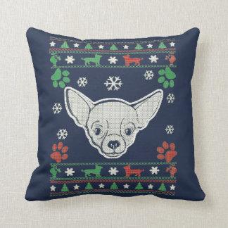 Chihuahua - Christmas Sweater Throw Pillow