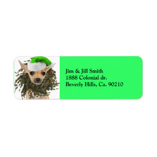 Chihuahua Christmas Wreath & Hat