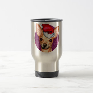 Chihuahua Claus Travel Mug
