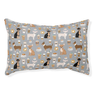 Chihuahua Coffees Pet Beds - cute dog design