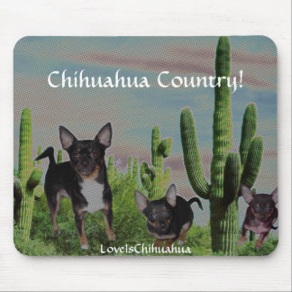 Chihuahua Country Cute MickeyElvis Mouse Pad