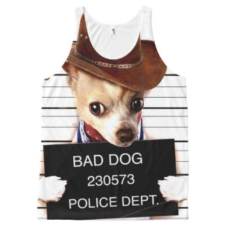 chihuahua cowboy - sheriff dog All-Over-Print tank top