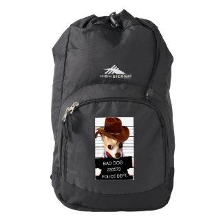 chihuahua cowboy - sheriff dog backpack