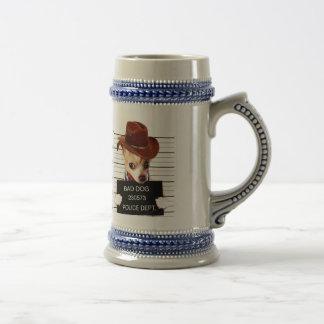 chihuahua cowboy - sheriff dog beer stein