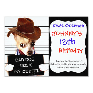 chihuahua cowboy - sheriff dog card