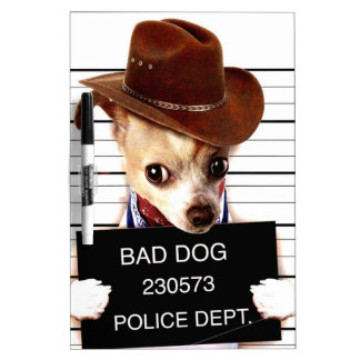 chihuahua cowboy - sheriff dog Dry-Erase boards