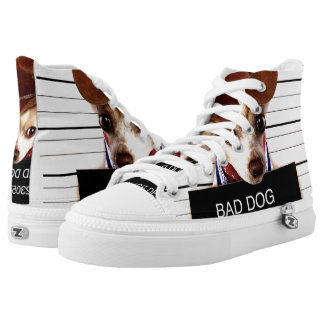 chihuahua cowboy - sheriff dog high tops