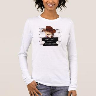 chihuahua cowboy - sheriff dog long sleeve T-Shirt