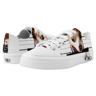 chihuahua cowboy - sheriff dog Low-Top sneakers