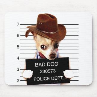 chihuahua cowboy - sheriff dog mouse pad
