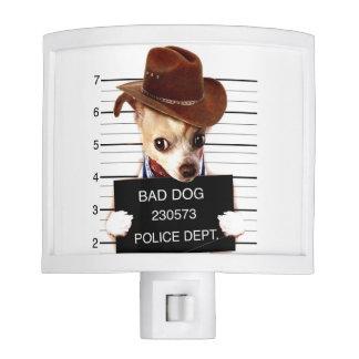 chihuahua cowboy - sheriff dog night light