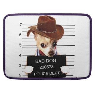 chihuahua cowboy - sheriff dog sleeve for MacBooks