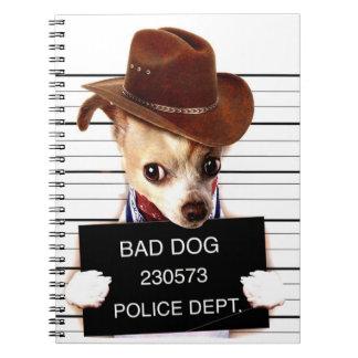 chihuahua cowboy - sheriff dog spiral notebook