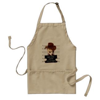 chihuahua cowboy - sheriff dog standard apron