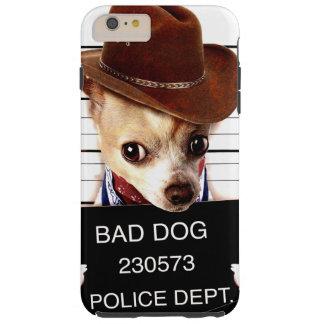 chihuahua cowboy - sheriff dog tough iPhone 6 plus case