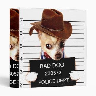 chihuahua cowboy - sheriff dog vinyl binders