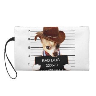 chihuahua cowboy - sheriff dog wristlet