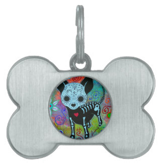 CHIHUAHUA DAY OF THE DEAD PERRO PET TAG