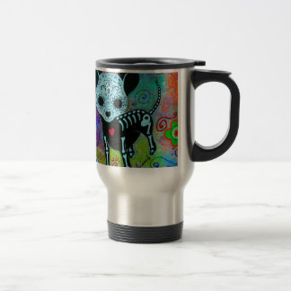 CHIHUAHUA DAY OF THE DEAD PERRO TRAVEL MUG