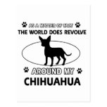Chihuahua design post card