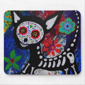 Chihuahua Dia De los Muertos by Prisarts Mouse Pad