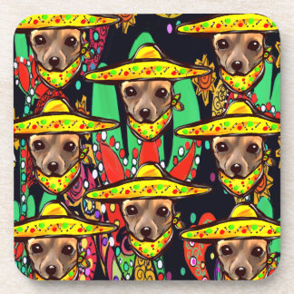CHIHUAHUA DOG BEVERAGE COASTERS