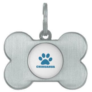 CHIHUAHUA DOG DESIGNS PET NAME TAG