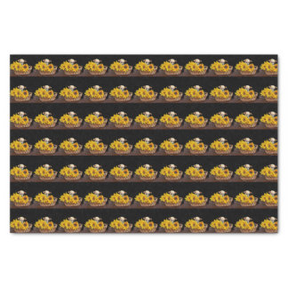 Chihuahua dog in sunflowers tissue paper