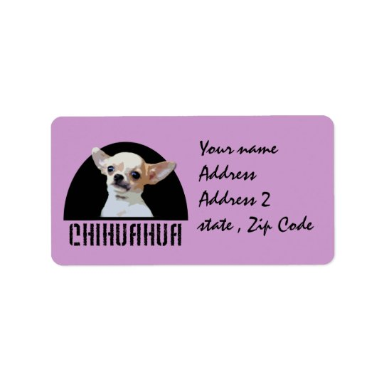 Chihuahua dog label