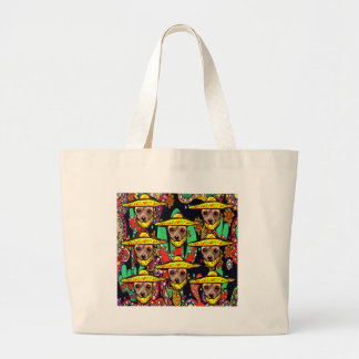 CHIHUAHUA DOG LARGE TOTE BAG