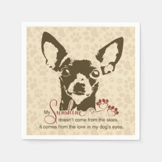 Chihuahua Dog My Sunshine Disposable Napkins