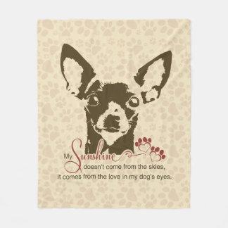 Chihuahua Dog My Sunshine Poem Fleece Blanket